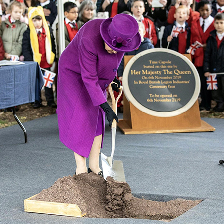 Rainha Elizabeth em evento público